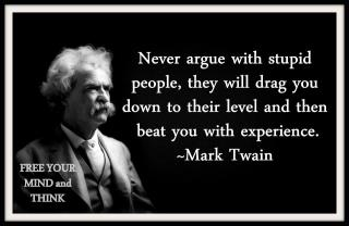 Image result for STUPID PEOPLE ARGUE INTELLIGENT PEOPLE DEBATE